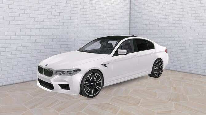 Sims 4 2019 BMW M5 at Modern Crafter CC