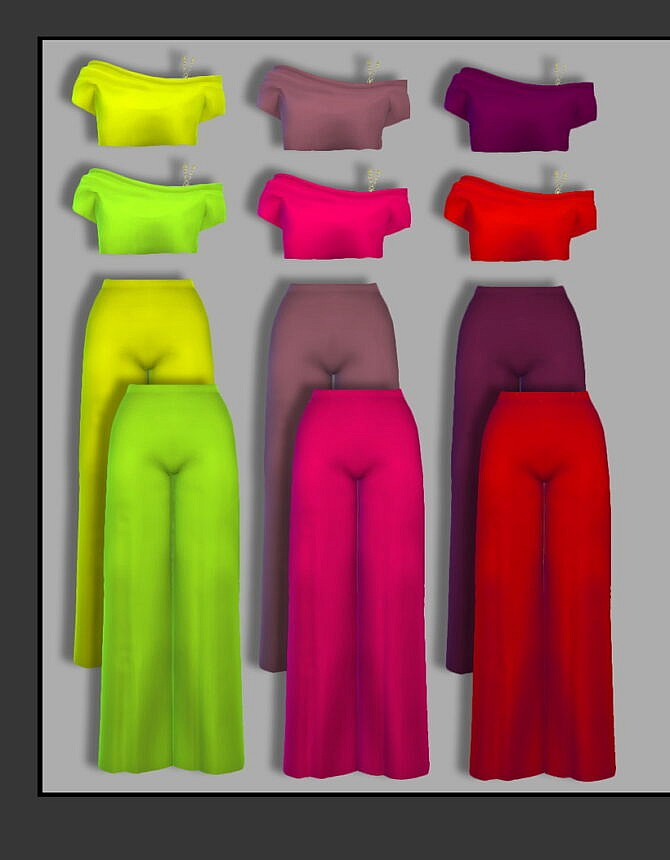 Sims 4 Pants & top at FusionStyle by Sviatlana