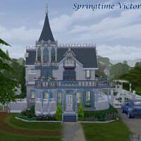Springtime Victorian House By Christine