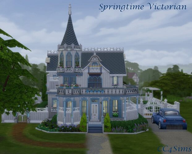 Springtime Victorian House By Christine