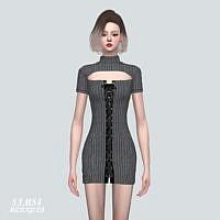 Lace Up Mini Dress 57