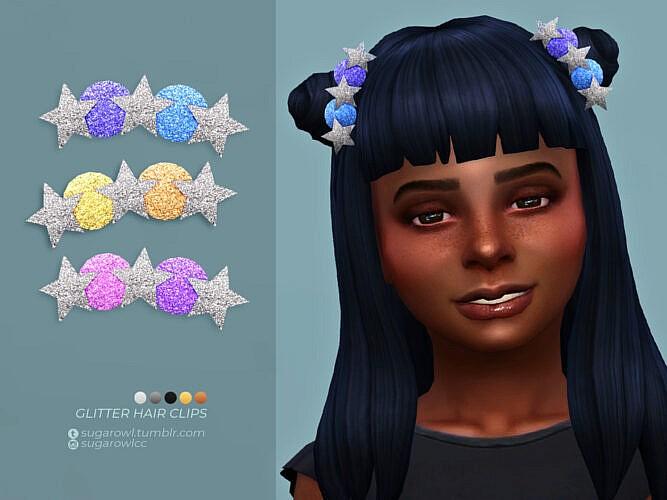 Glitter Hair Clips Kids Version By Sugar Owl