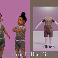 Toddler's Outfit By Akaysims