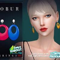 Retro Earrings 80s By Bobur3
