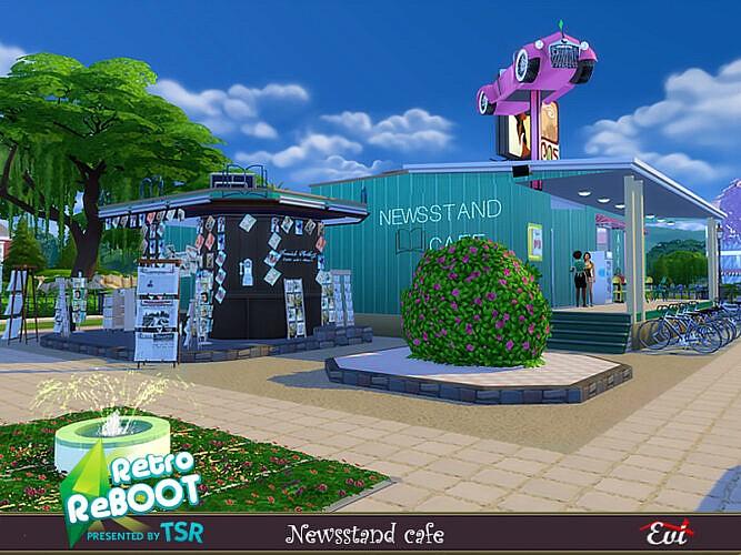 Retro Newsstand Cafe By Evi