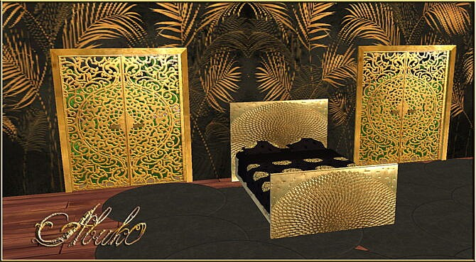 Daraja Gold And Silver Bedroom