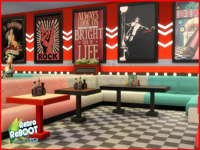 Sims 4 Retro R&R Bar Set by seimar8 at TSR