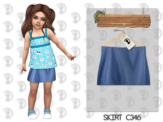 Sims 4 Skirt C346 by turksimmer at TSR