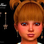 Bow Toddler Earrings By Suzue