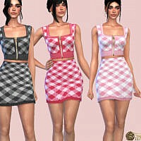 Gingham Check Mini Skirt By Harmonia