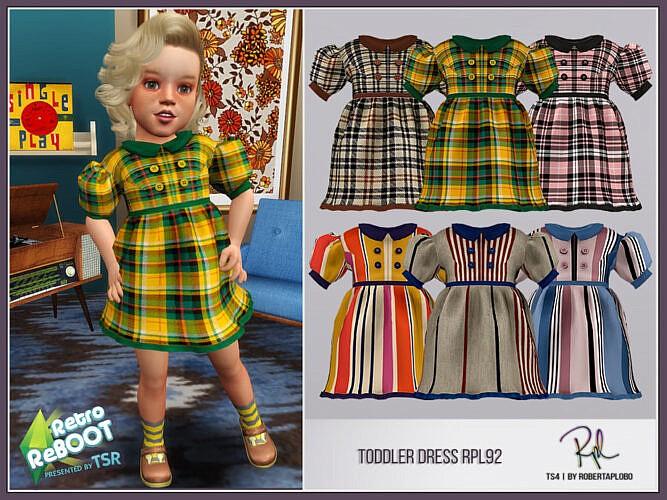 Retro Toddler Dress Rpl92 By Robertaplobo