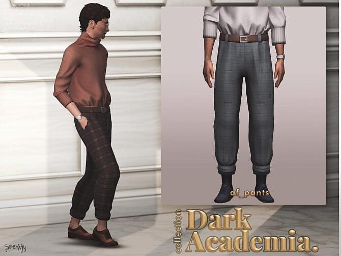 Sims 4 Dark Academia Collection at SERENITY
