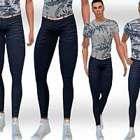Men Dark Blue Jeans By Saliwa