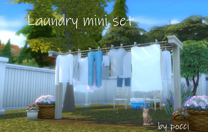 Sims 4 Laundry mini set by Pocci at Garden Breeze Sims 4