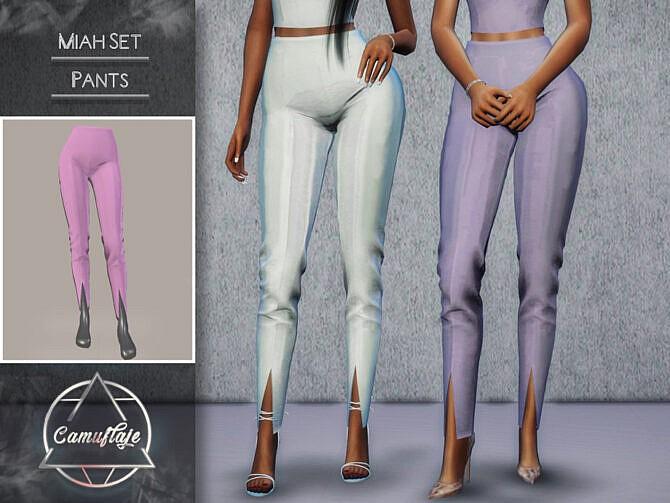 Sims 4 Miah Set Pants by Camuflaje at TSR