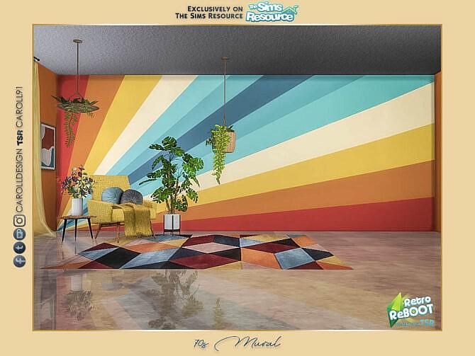 Sims 4 Retro ReBOOT 70s Mural by Caroll91 at TSR