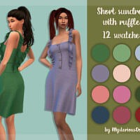 Short Sundress With Ruffles By Mysteriousoo