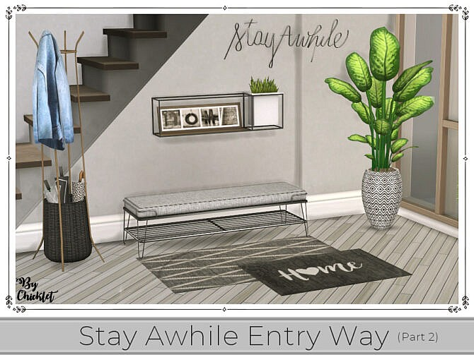 Sims 4 Stay Awhile Entry Way (Part 2) by Chicklet at TSR