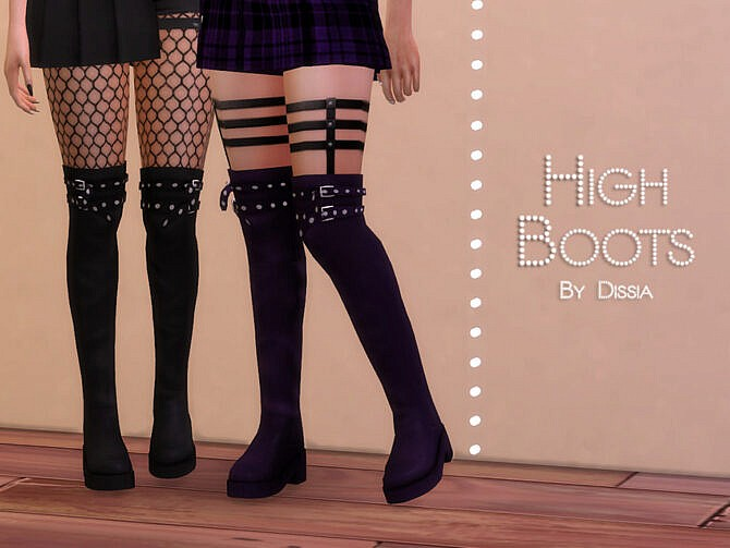 Sims 4 High Boots by Dissia at TSR
