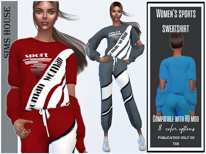 Women's Sport Sweatshirt By Sims House