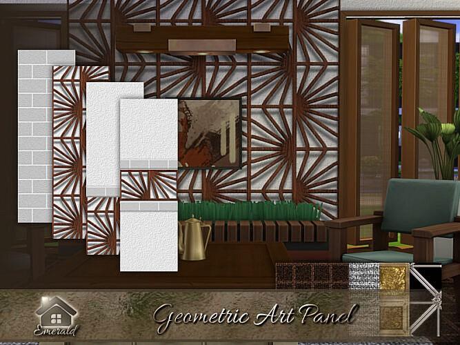 Geometric Art Panel By Emerald