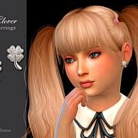 Clover Child Earrings By Suzue