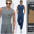 Men's T-shirt Sleeveless To Joggers By Sims House