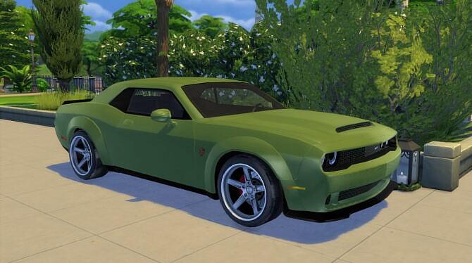 Sims 4 2018 Dodge Challenger SRT Demon at Modern Crafter CC