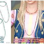 Retro Pattie Necklace By Darknightt