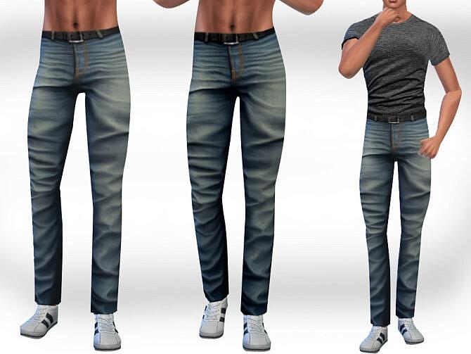 Sims 4 Straight Men Jeans by Saliwa at TSR