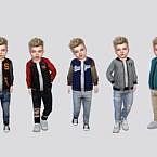 Joe Varsity Jacket Toddler By Mclaynesims