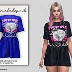 T-shirt Dress Mc156 By Mermaladesimtr