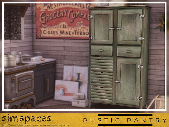 Rustic Pantry By Simspaces