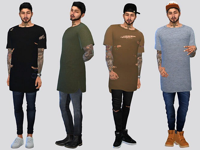 Thrift Long Tees By Mclaynesims