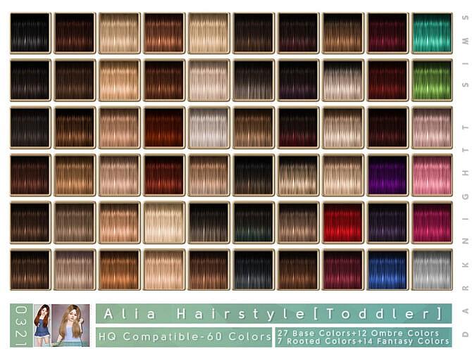 Sims 4 Alia Hair Toddler by DarkNighTt at TSR