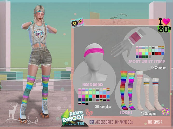 Retro Dsf Accessories Dinamyc 80s By Dansimsfantasy