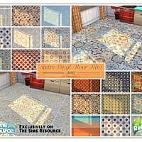 Retro Vinyl Floor Tiles By Moniamay72