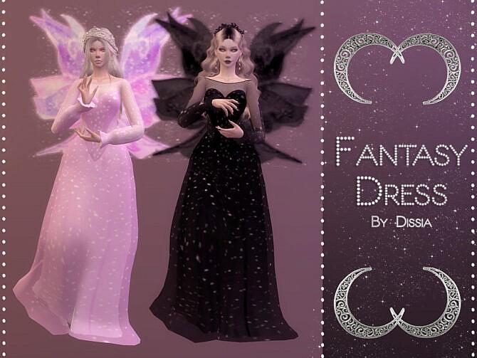 Sims 4 Fantasy Dress by Dissia at TSR