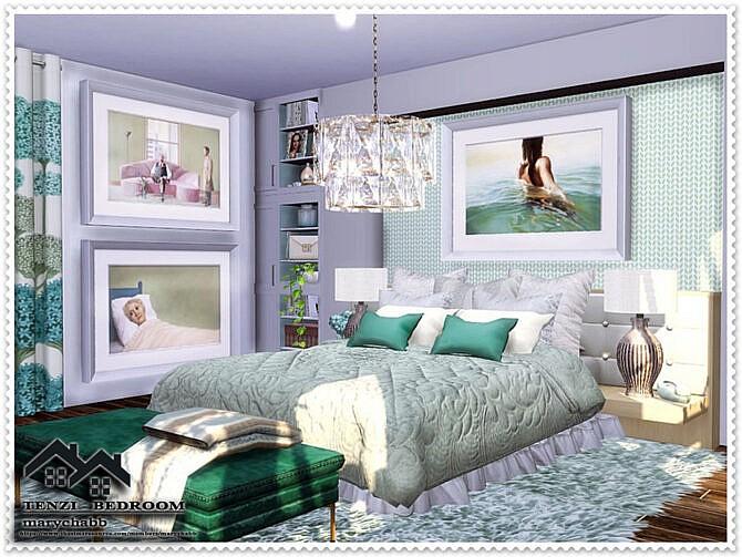 Sims 4 TENZI Bedroom by marychabb at TSR
