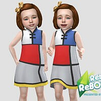Ip Toddler Retro Mondrian Style Dress By Infiniteplumbobs