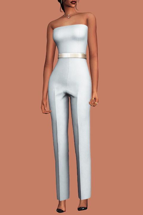 Sims 4 Formal Tube Top Jumpsuit at Gorilla