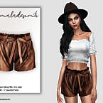 Waist Belted Shorts Mc163 By Mermaladesimtr