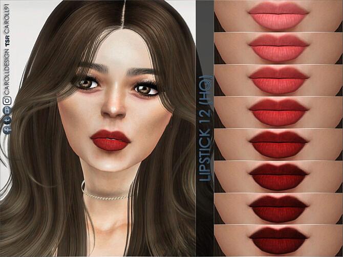 Sims 4 Lipstick 12 (HQ) by Caroll91 at TSR