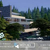 Retro Fallingwater House By Simsbylinea