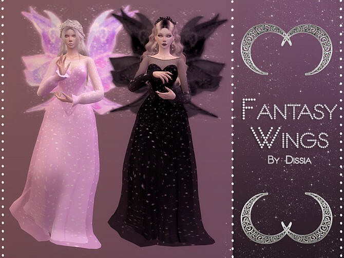Sims 4 Fantasy Wings by Dissia at TSR
