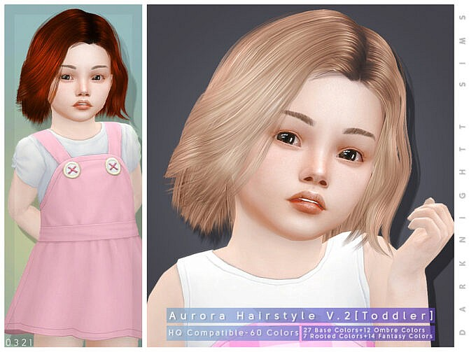Sims 4 Aurora Hairstyle V.2 [Toddler] by DarkNighTt at TSR
