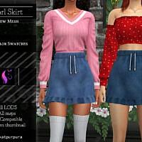 Pearl Skirt By Katpurpura