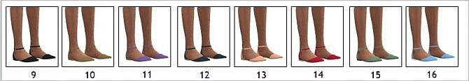 Sims 4 EP03 FLAT ANKLE STRAP SHOES at Sims4Sue