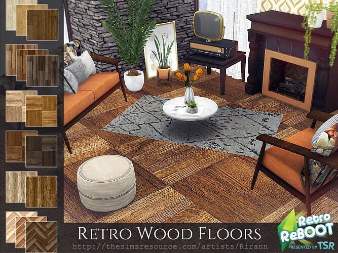Retro Wood Floors By Rirann