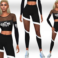 Fishnet Detail Athletic And Casual Outfit By Saliwa
